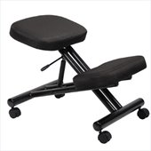 Boss Office Products Black Fabric Ergonomic Kneeling Stool