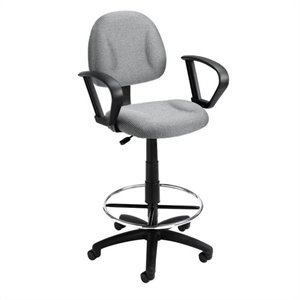 Boss Office Contoured Fabric Drafting Chair