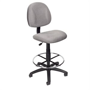 Boss Office Products Contoured Fabric Drafting Chair