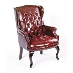 Boss Office Products Guest Office Tufted Chair in red
