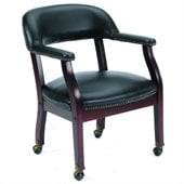 Boss Office Products Captain's Guest Chair with Arms and Casters