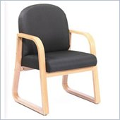 Boss Office Products Molded Oak Sled Base Guest Chair