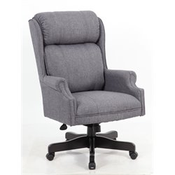 Boss High Back Executive Chair in Slate Gray Commercial Grade Linen