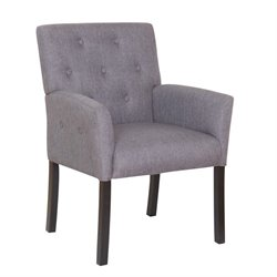 Boss Taylor Button-tufted Accent Chair in Slate Gray