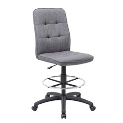 Boss Pretty Parsons Drafting Stool in Slate Gray Commercial Grade