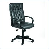 Boss Office Products High-Back Button Tufted Executive Chair with Knee Tilt