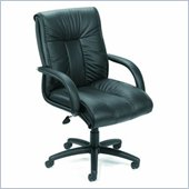 Boss Office Products Traditional Italian Leather Office Chair with Knee Tilt