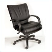 Boss Office Products Mid-Back Modern LeatherPlus Executive Chair with Knee Tilt