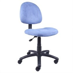 Boss Office Products Fabric Deluxe Posture Office Chair in Blue