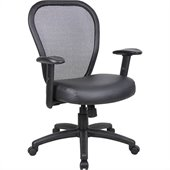 Boss Office Products Mesh Arm Chair with Adjustment Lever
