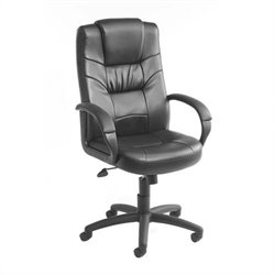Boss Office Products Executive Leather Plus Office Chair with Knee Tilt