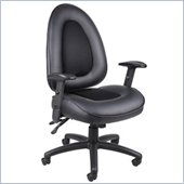 Boss Office Products Leather Plus Multi-Funtional Lever Chair