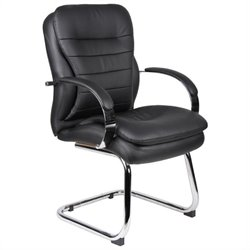Boss Office Products Mid-Back Caressoft Executive Guest Chair