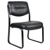 Boss Office Products Leather Plus with Black Frame Chair