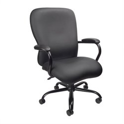 Boss Office Products Big & Tall Office Chair in Black Caressoft Plus Fabric (350 lb capacity)
