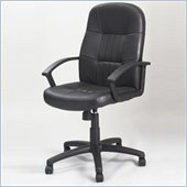 Boss Office Products Black Leather High Back Chair