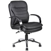 Boss Office Products Mid-Back Caressoft Plus Exec Chair with Chrome Base