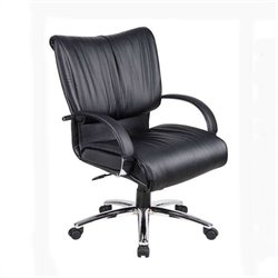 Boss Office Products Mid Back Executive Office Chair in Black