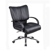 Boss Office Products Mid Back Executive Chair in Black