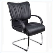 Boss Office Products Mid Back Guest Chair in Black