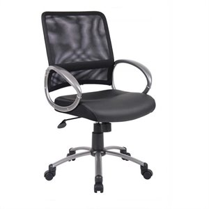 Boss Office Products Mesh Task Office Chair in Black