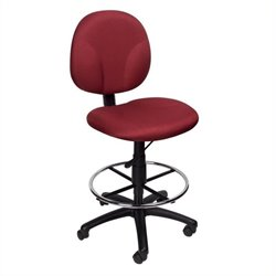 Boss Office Products Drafting Chair in Burgundy
