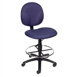 Boss Office Products Drafting Chair in Blue