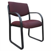 Boss Office Products Fabric Sled Base Guest Chair in Burgundy