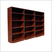 Boss Office Products Wall Bookcase in Mahogany