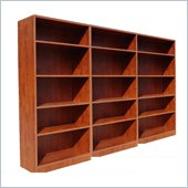 Boss Office Products Wall Bookcase in Cherry