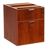 Boss Office Products Lateral Wood Hanging File Cabinet in Cherry