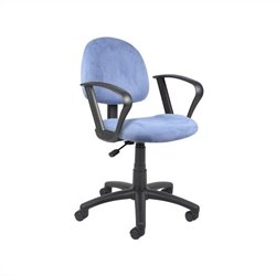 Boss Office Microfiber Deluxe Posture Office Chair with Loop Arms in Blue