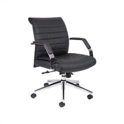Boss Office Executive Mid Back Ribbed Office Chair