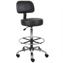 Boss Office Adjustable Caressoft Medical Stool