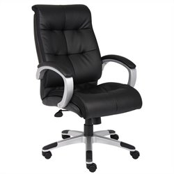 Boss Office Products Double Plush High Back Executive Office Chair in Black