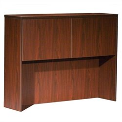 Boss Office Products Hutch With 2 Doors in Mahogany