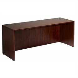 Boss Office Products 66 inch Credenza in Mahogany