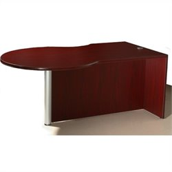 Boss Office Products Right Side P-Desk Shell in Mahogany
