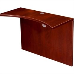 Boss Office Products Curved Bridge in Mahogany