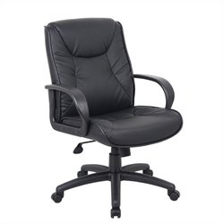 Boss Office Products Office ChairsatWork Mid Back in Black