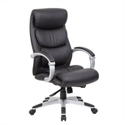 Boss Office Products Hinged Arm Executive Office Chair with Synchro Tilt