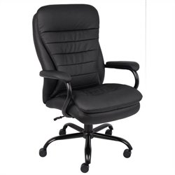 Boss Office Products Double Plush Caressoftplus Office Chair in Black