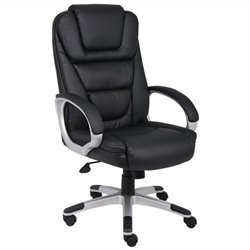 Boss Office Products Ntr Executive Leatherplus Office Chair with Knee Tilt