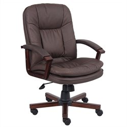 Boss Office Products Versailles Cherry Wood Exeutive Chair
