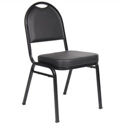 Boss Office Products Set of 4 Caressoft Banquet Guest Chair in Black