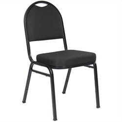Boss Office Products Set of 4 Crepe Banquet Guest Chair in Black
