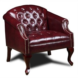 Boss Office Products Tufted Club Chair in Red