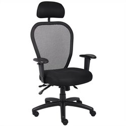 Boss Office Products Mesh Office Chair with 3 Paddle Mech and Headrest