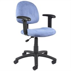 Boss Office Products Microfiber Deluxe Posture Office Chair in Blue