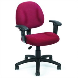 Boss Office Products DX Posture Office Chair with Adjustable Arms in Burgundy